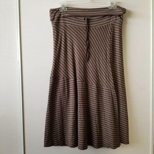 Athleta Steiped Faux Wrap Midi Skirt Size Large